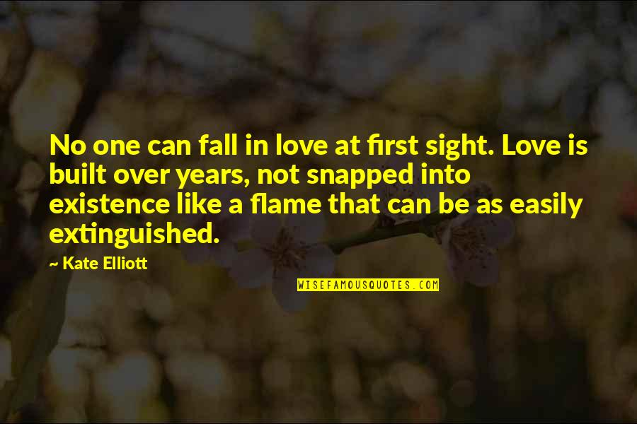 Love At First Sight Quotes By Kate Elliott: No one can fall in love at first