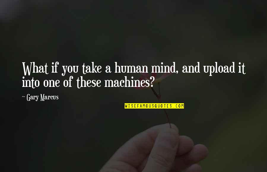Love Being A Mommy Quotes By Gary Marcus: What if you take a human mind, and