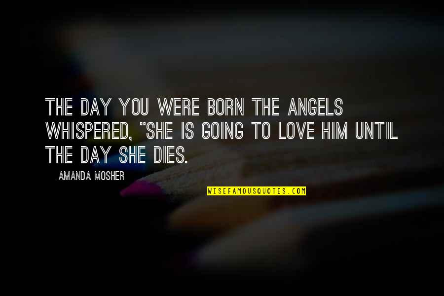 Love Birth Day Quotes By Amanda Mosher: The day you were born the angels whispered,