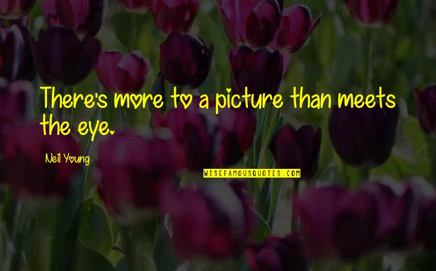 Love Can Last A Lifetime Quotes By Neil Young: There's more to a picture than meets the