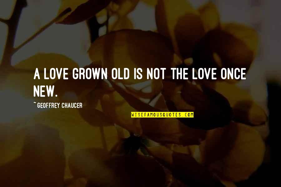 Love Chaucer Quotes By Geoffrey Chaucer: A love grown old is not the love