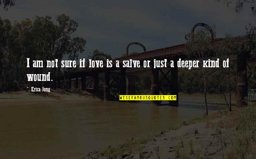 Love Deeper Quotes By Erica Jong: I am not sure if love is a