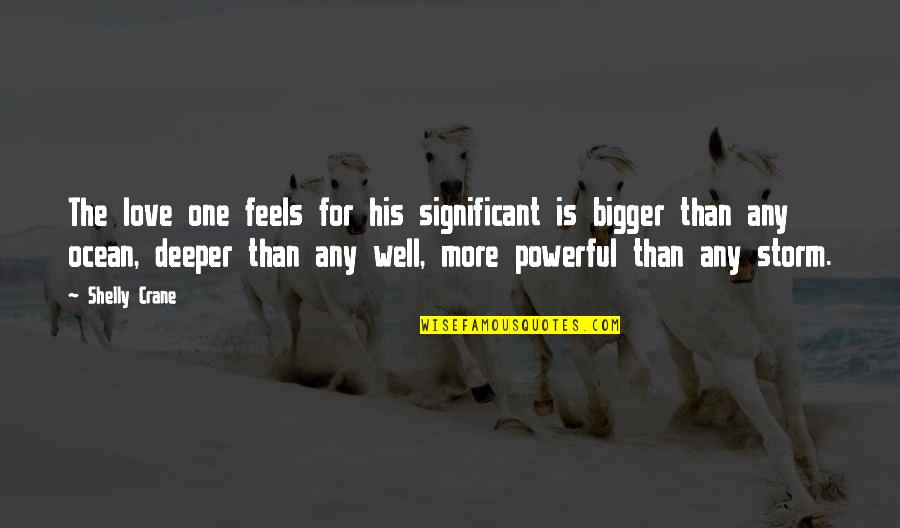 Love Deeper Quotes By Shelly Crane: The love one feels for his significant is