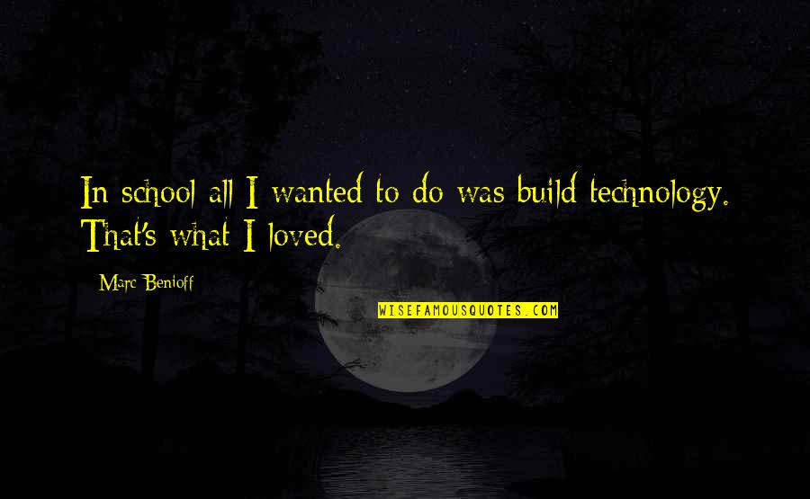 Love Feels Great Quotes By Marc Benioff: In school all I wanted to do was