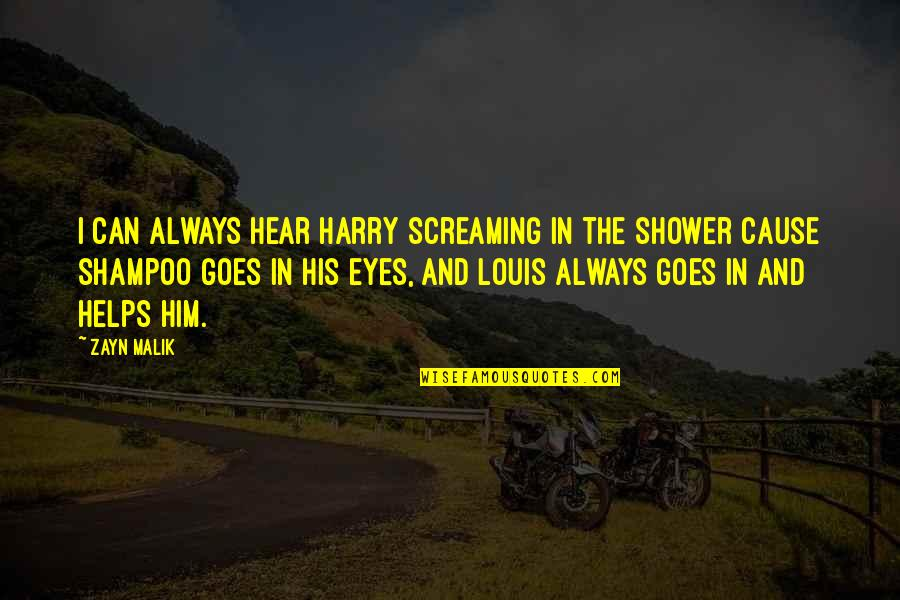 Love Feels Great Quotes By Zayn Malik: I can always hear Harry screaming in the