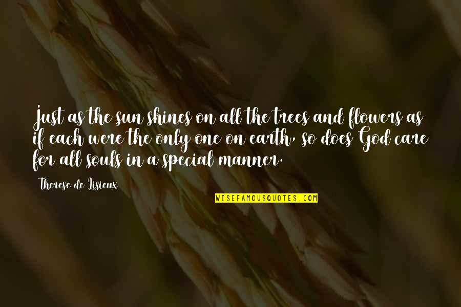 Love Flowers Quotes By Therese De Lisieux: Just as the sun shines on all the