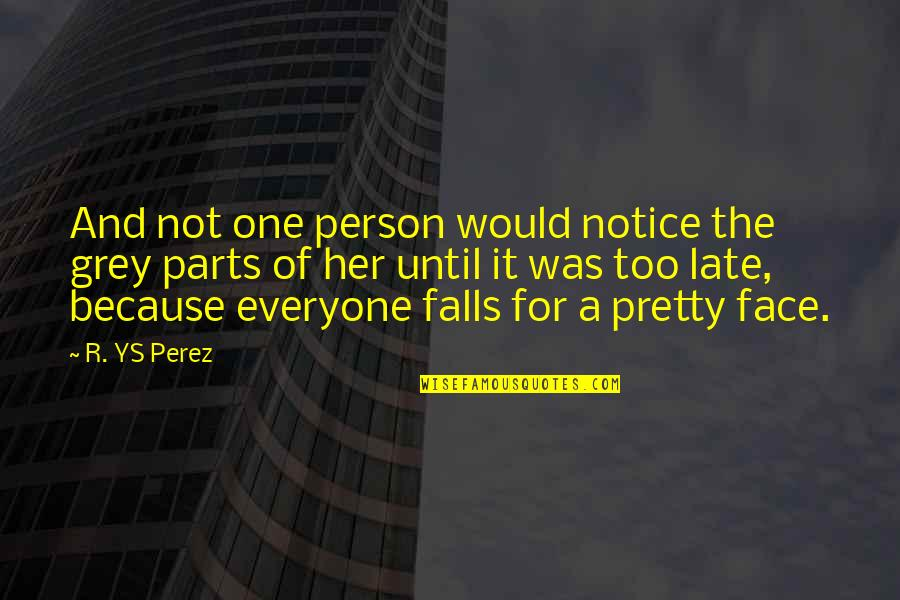 Love For Everyone Quotes By R. YS Perez: And not one person would notice the grey