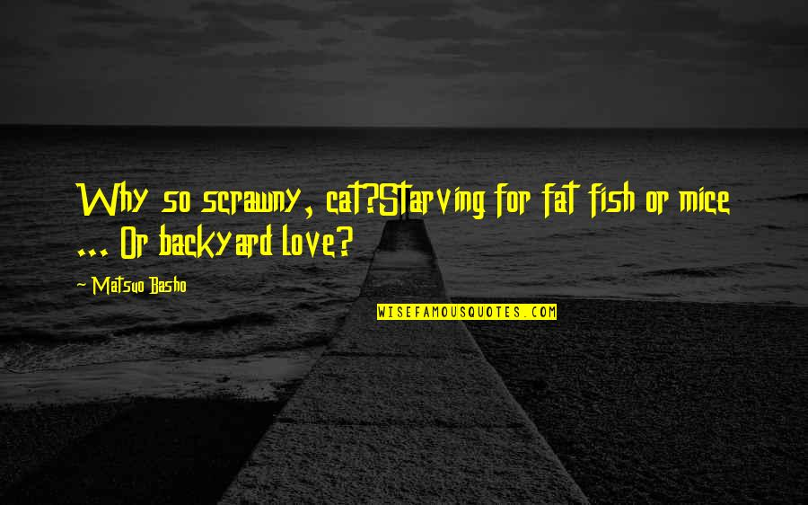 Love For Your Cat Quotes By Matsuo Basho: Why so scrawny, cat?Starving for fat fish or