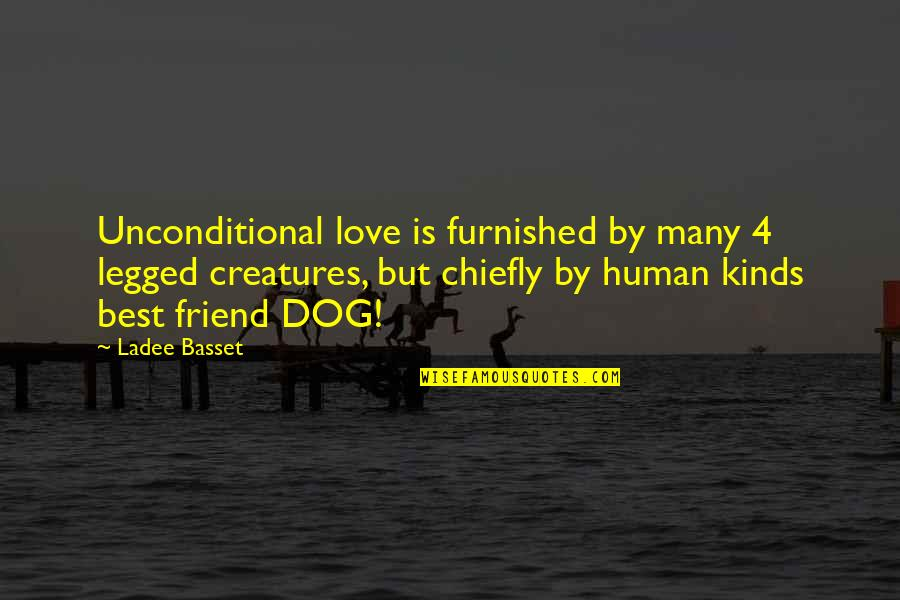 Love For Your Dog Quotes By Ladee Basset: Unconditional love is furnished by many 4 legged