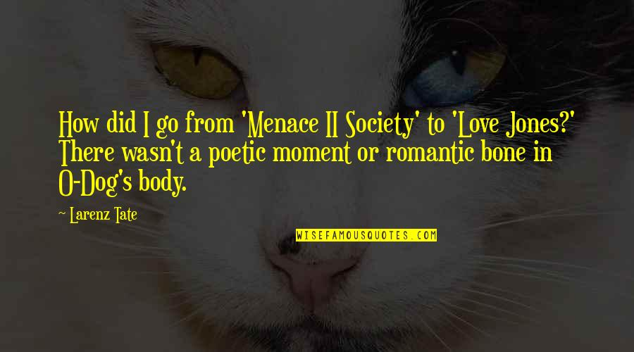 Love For Your Dog Quotes By Larenz Tate: How did I go from 'Menace II Society'