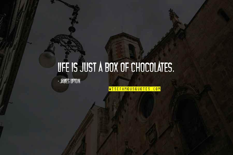 Love From Classic Movies Quotes By James Lipton: Life is just a Box of Chocolates.