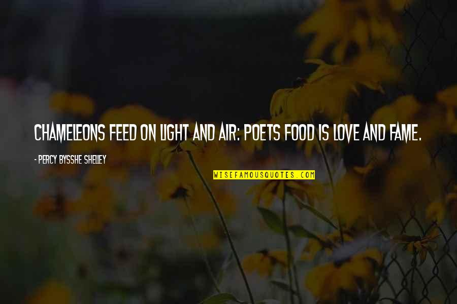 Love From Poets Quotes By Percy Bysshe Shelley: Chameleons feed on light and air: Poets food