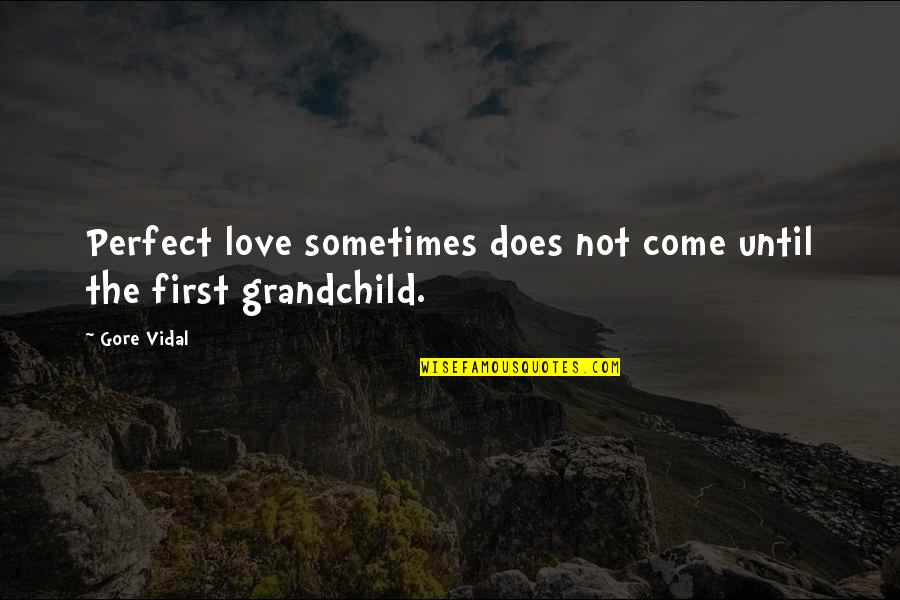 Love Grandchild Quotes By Gore Vidal: Perfect love sometimes does not come until the