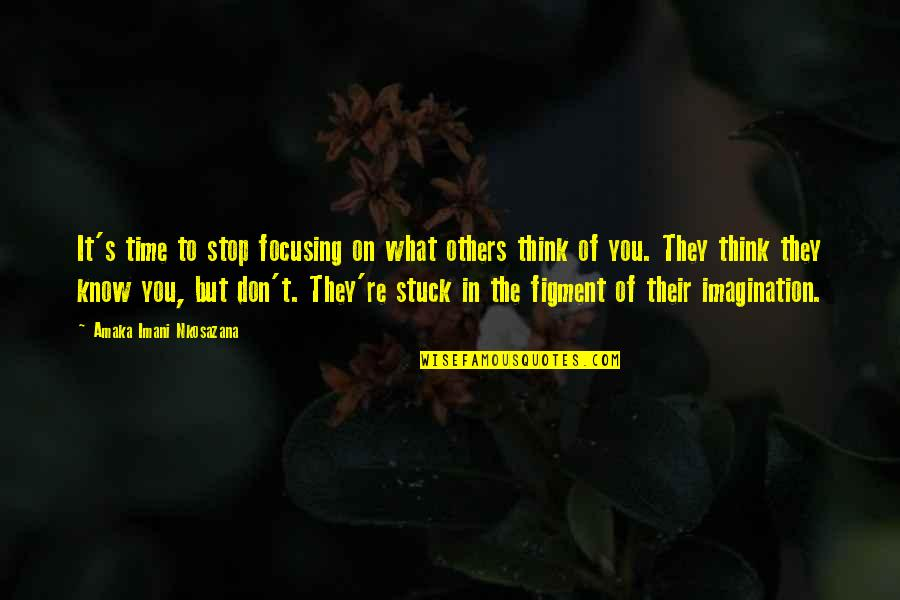 Love Hope Peace Happiness Quotes By Amaka Imani Nkosazana: It's time to stop focusing on what others