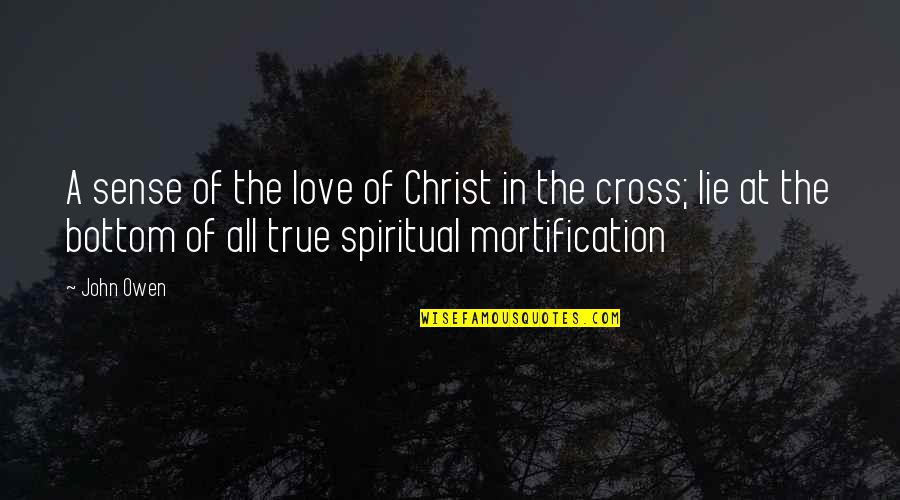 Love In Christ Quotes By John Owen: A sense of the love of Christ in