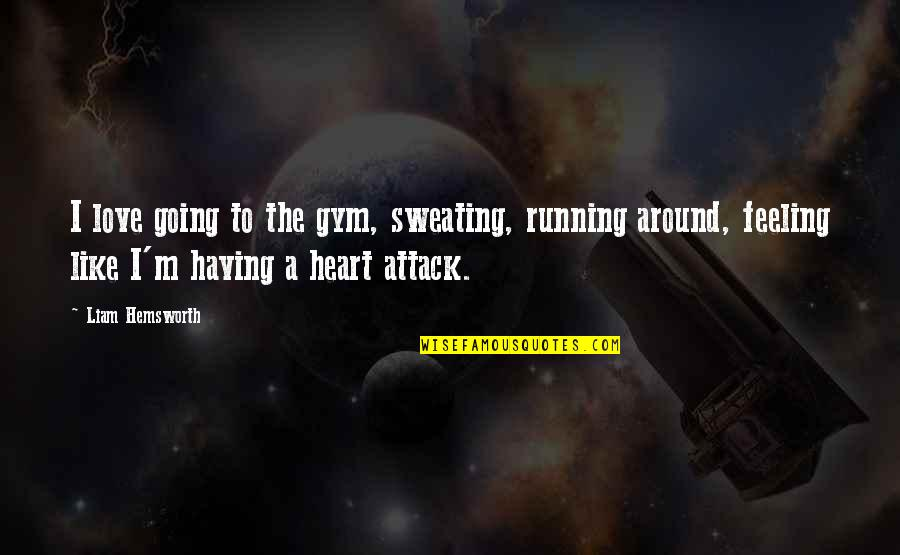 Love Is All Around Us Quotes By Liam Hemsworth: I love going to the gym, sweating, running