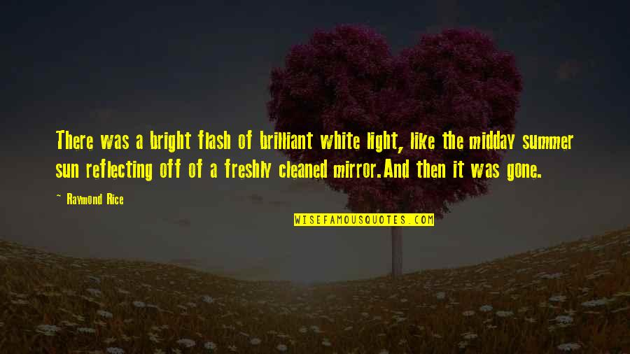 Love Is Like A Mirror Quotes By Raymond Rice: There was a bright flash of brilliant white