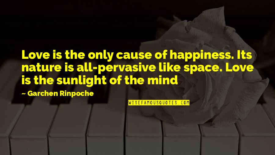 Love Is Like Nature Quotes By Garchen Rinpoche: Love is the only cause of happiness. Its