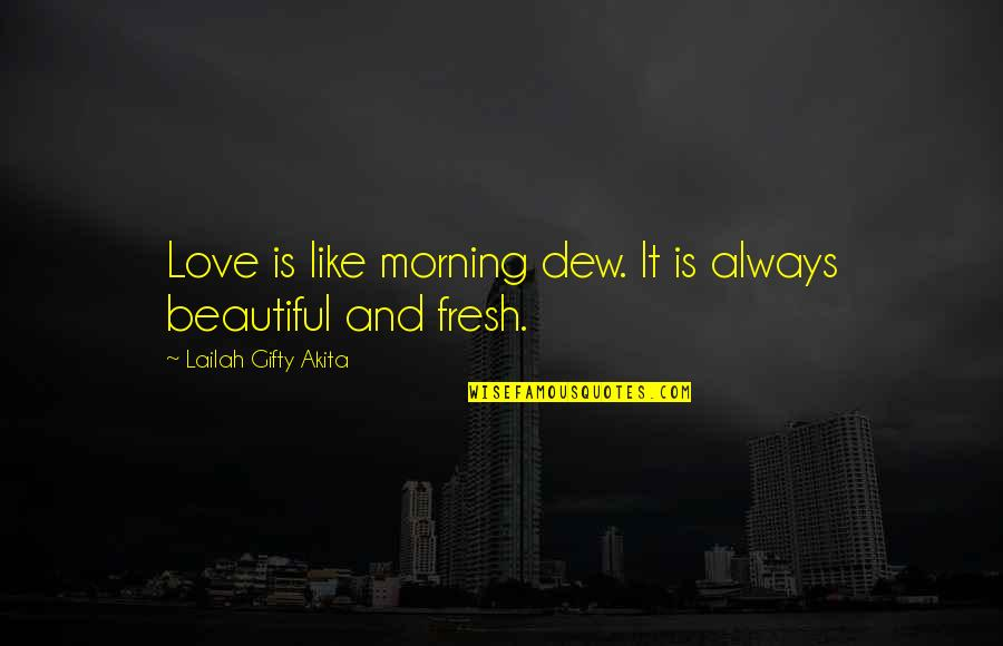 Love Is Like Nature Quotes By Lailah Gifty Akita: Love is like morning dew. It is always