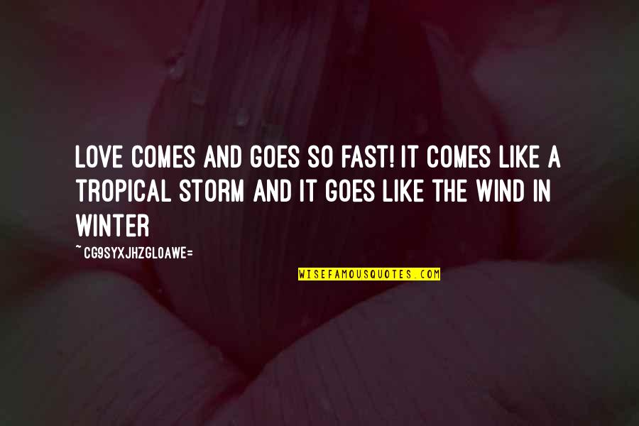 Love Like A Wind Quotes By CG9sYXJhZGl0aWE=: Love comes and goes so fast! It comes