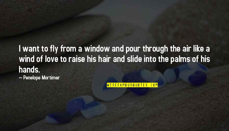 Love Like A Wind Quotes By Penelope Mortimer: I want to fly from a window and