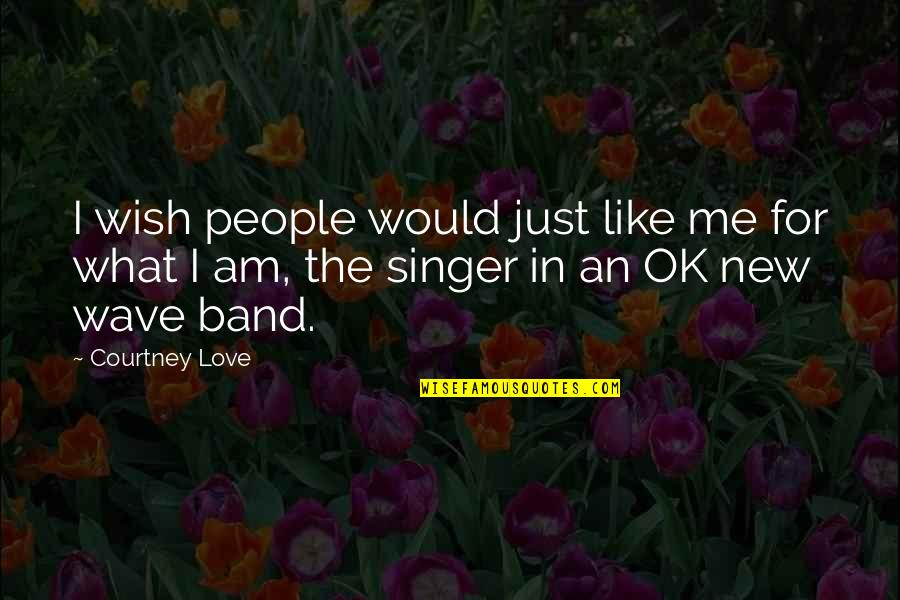 Love Me For What I Am Quotes By Courtney Love: I wish people would just like me for