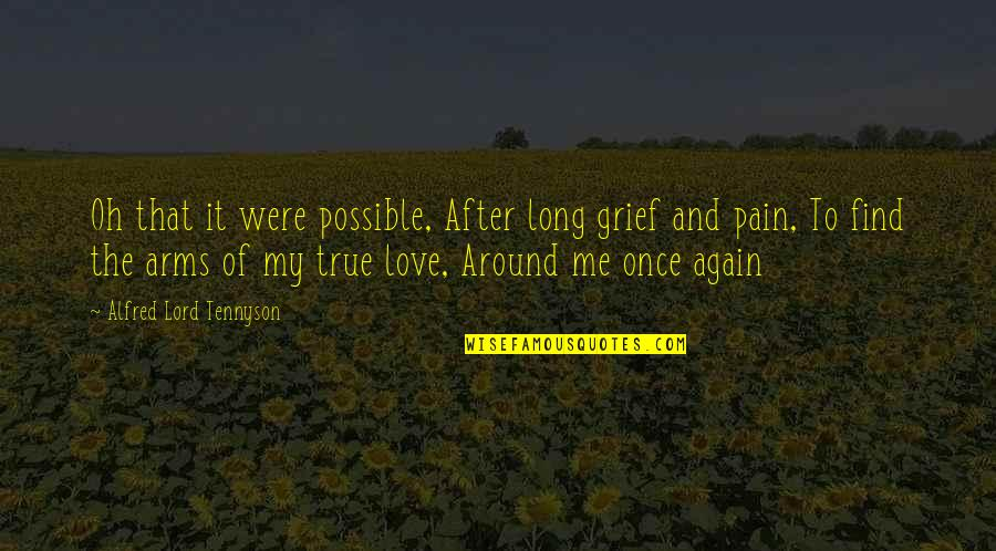 Love Me Once Quotes By Alfred Lord Tennyson: Oh that it were possible, After long grief