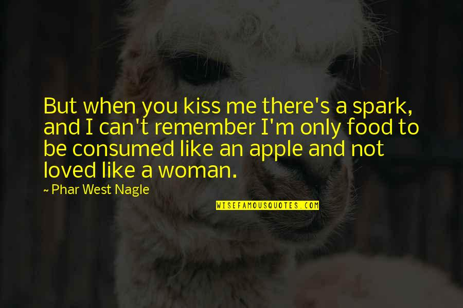 Love Me Only Quotes By Phar West Nagle: But when you kiss me there's a spark,
