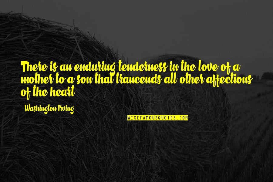 Love Mother Son Quotes By Washington Irving: There is an enduring tenderness in the love