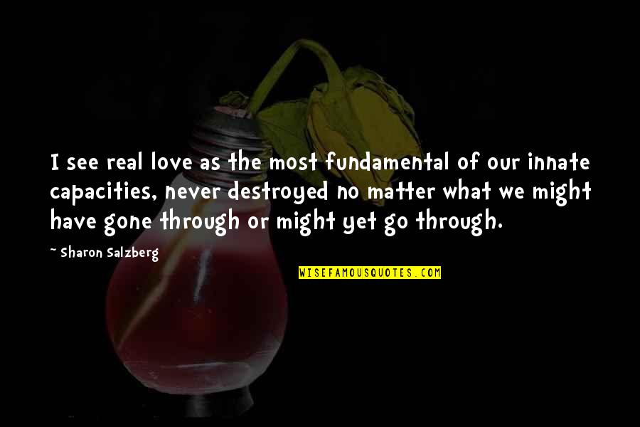 Love Never Gone Quotes By Sharon Salzberg: I see real love as the most fundamental