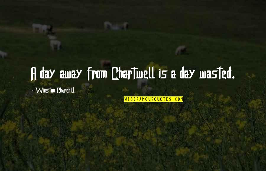 Love New Tagalog Quotes By Winston Churchill: A day away from Chartwell is a day