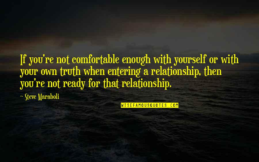 Love Not Enough Quotes By Steve Maraboli: If you're not comfortable enough with yourself or