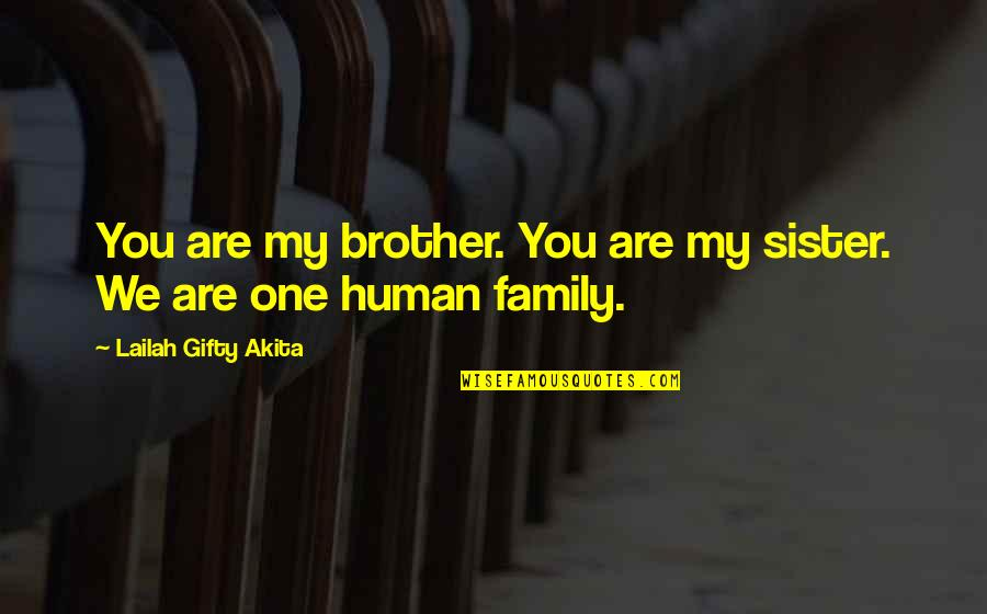 Love Of Brother And Sister Quotes By Lailah Gifty Akita: You are my brother. You are my sister.
