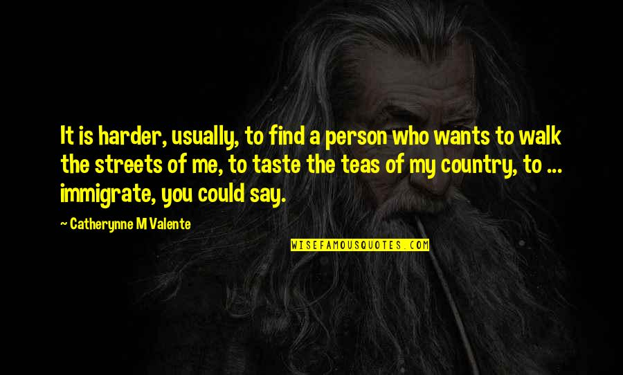 Love Of Country Quotes By Catherynne M Valente: It is harder, usually, to find a person