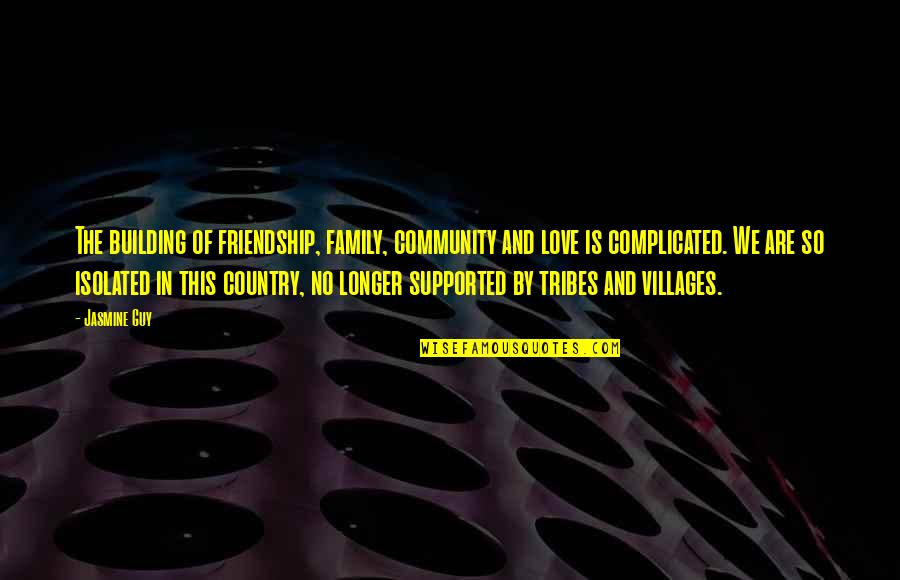 Love Of Country Quotes By Jasmine Guy: The building of friendship, family, community and love