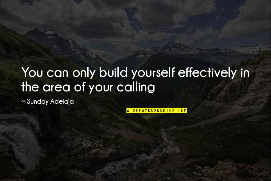 Love Of Money Quotes By Sunday Adelaja: You can only build yourself effectively in the