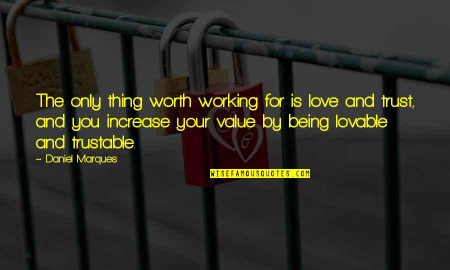 Love Only For You Quotes By Daniel Marques: The only thing worth working for is love