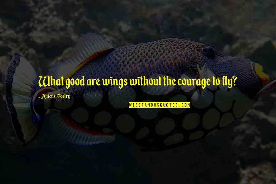 Love Poems Love Quotes By Atticus Poetry: What good are wings without the courage to