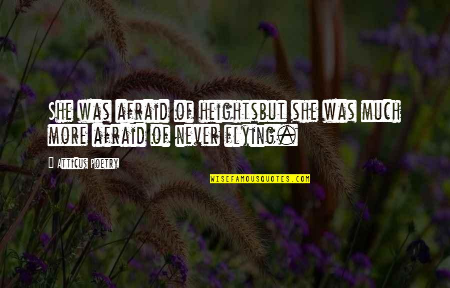 Love Poems Love Quotes By Atticus Poetry: She was afraid of heightsbut she was much