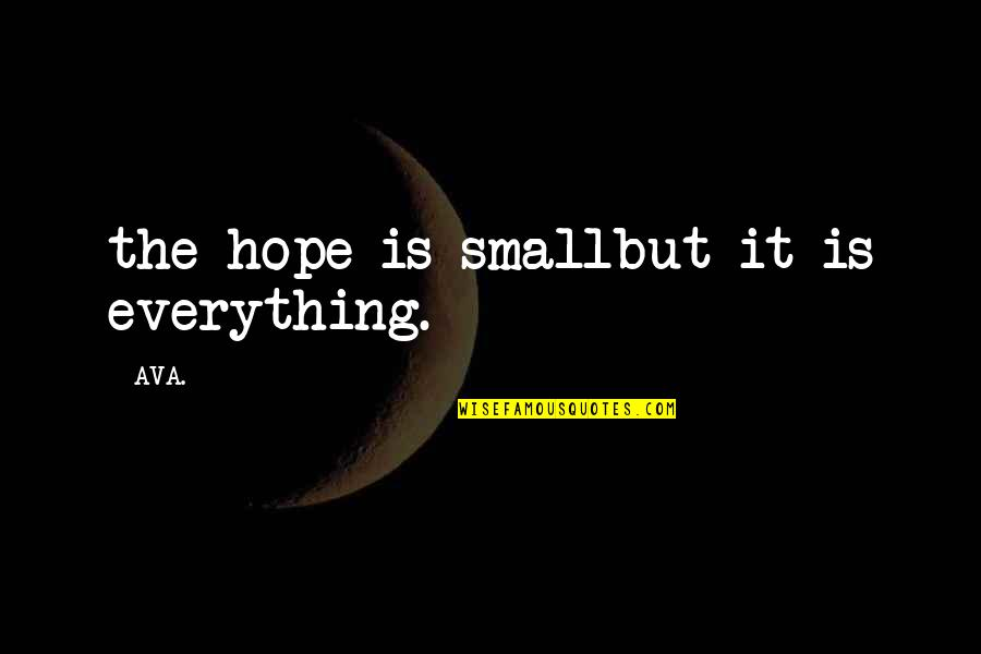 Love Poems Love Quotes By AVA.: the hope is smallbut it is everything.