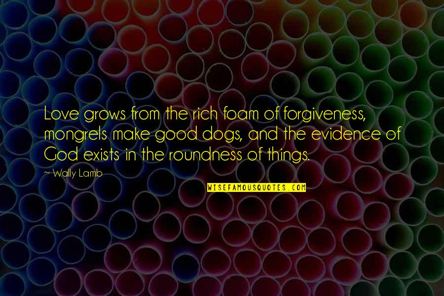 Love Rich Quotes By Wally Lamb: Love grows from the rich foam of forgiveness,