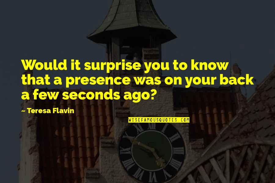 Love Stock Quotes By Teresa Flavin: Would it surprise you to know that a