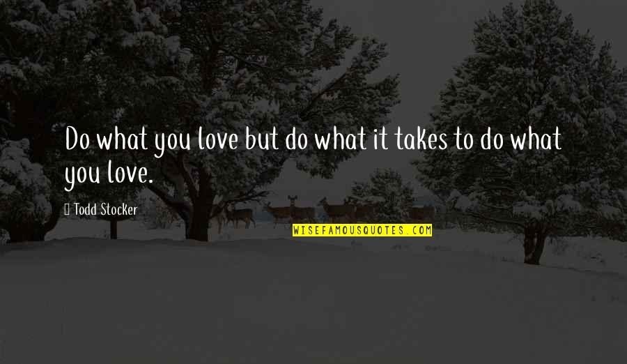 Love Takes Work Quotes By Todd Stocker: Do what you love but do what it