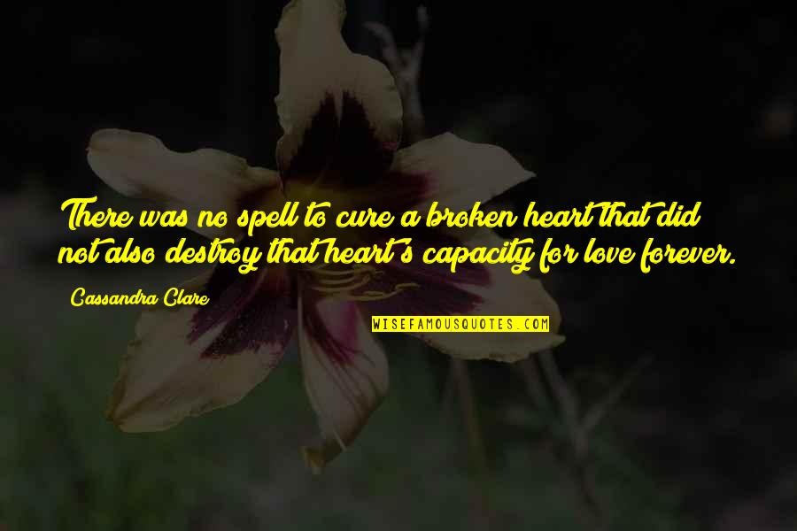 Love That Broken Quotes By Cassandra Clare: There was no spell to cure a broken
