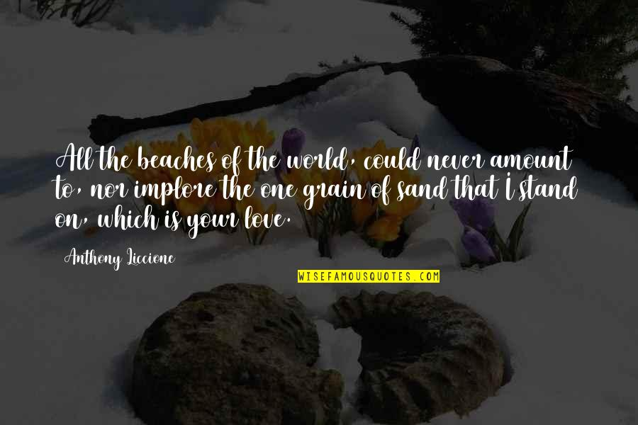 Love That Is True Quotes By Anthony Liccione: All the beaches of the world, could never