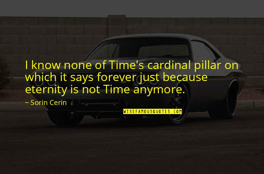 Love Till Eternity Quotes By Sorin Cerin: I know none of Time's cardinal pillar on