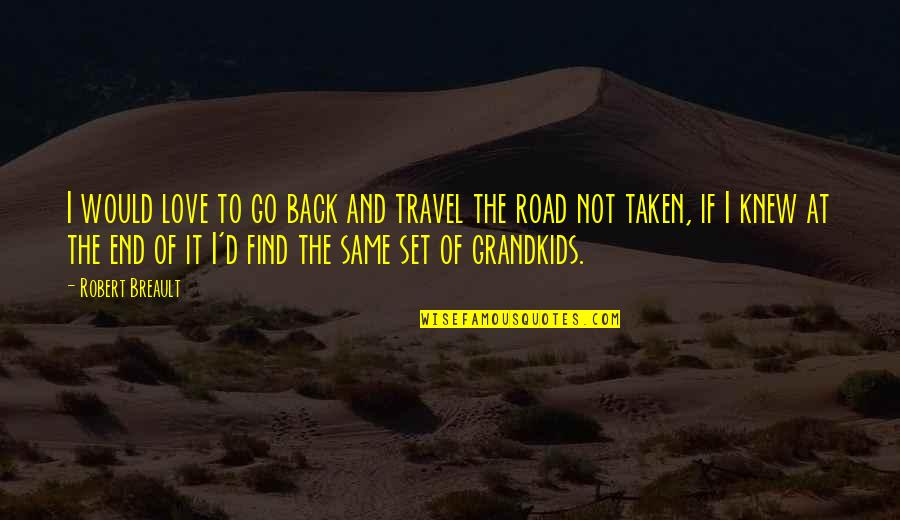 Love To Travel Quotes By Robert Breault: I would love to go back and travel