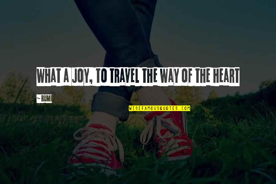 Love To Travel Quotes By Rumi: What a Joy, to travel the way of