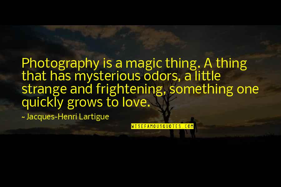 Love Too Quickly Quotes By Jacques-Henri Lartigue: Photography is a magic thing. A thing that