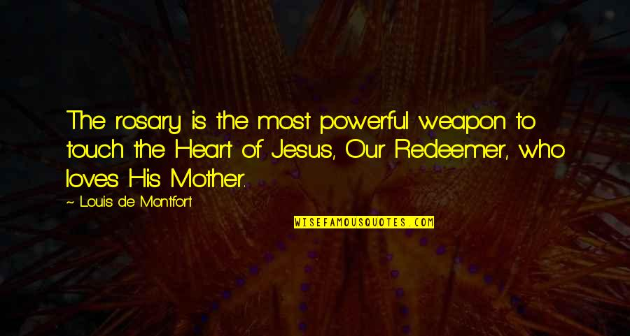 Love Ur Smile Quotes By Louis De Montfort: The rosary is the most powerful weapon to